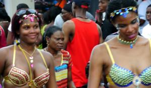 Girls Enjoyinmg the Carnival Moves