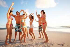 party on a Caribbean beach